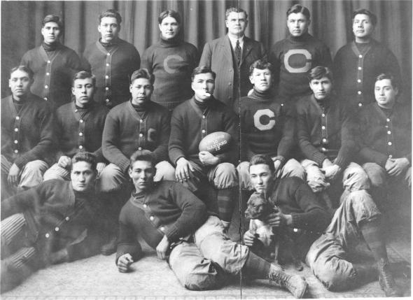 Carlisle Indian School's 1903 football team (U.S. Army Heritage and Education Center)