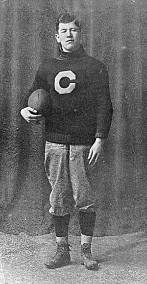Jim Thorpe in a Carlisle uniform, c. 1909. Jim was one of the greatest football players and athletes in modern history. He was a member of the Sac and Fox Nation in Oklahoma. He won Olympic gold medals for the 1912 pentathlon and decathlon, played American football (collegiate and professional), and also played professional baseball and basketball.