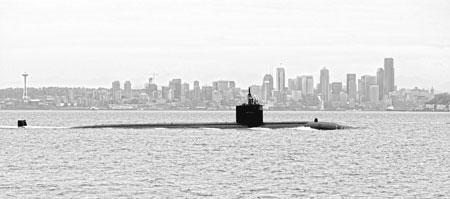USS Albuquerque near Seattle. Courtesy US Navy.