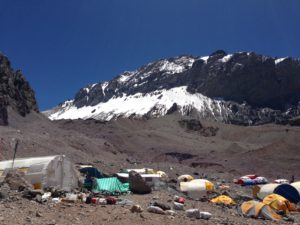 Basecamp at Mt. Aconcagua in Argentina