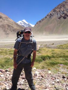 S&K CFO, Scott Colton, takes in his first sighting of Mt. Aconcagua in Argentina.
