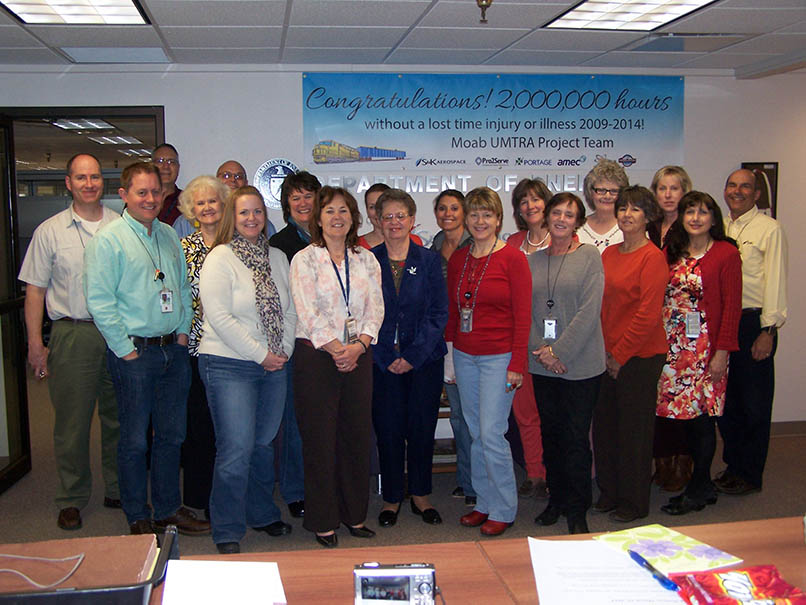 The S&k Aerospace UMTRA Technical Assistance Contract crew in Grand Junction, Colorado.