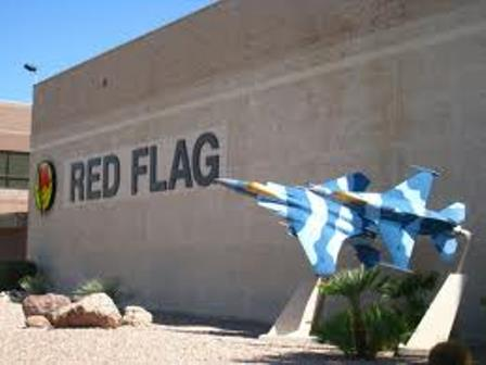 Red Flag operations take place at Nellis Air Force Base in Las Vegas, Nevada.