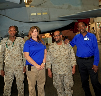 S&K Aerospace employees help manage and host trainees from the RSAF at Red Flag.