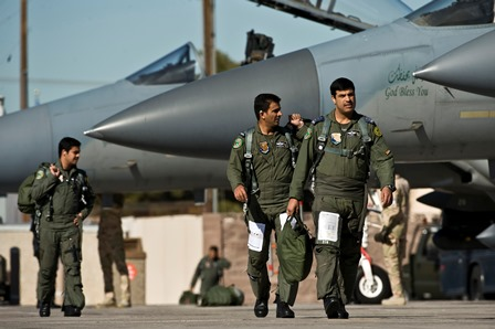 Trainees from the Royal Saudi Air Force at Red Flag.