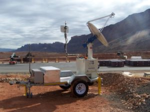 Radar unit used to monitor further ground movement at the Moab UMTRA project site.
