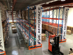 One of the S&K Aerospace Middle East Branch warehouses