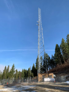 One of the four towers completed by ITL above the Mission Valley of the Flathead Reservation in northwest Montana.